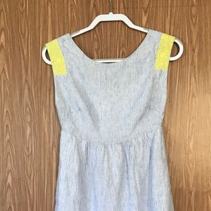 J. Crew Linen Sleeveless Dress